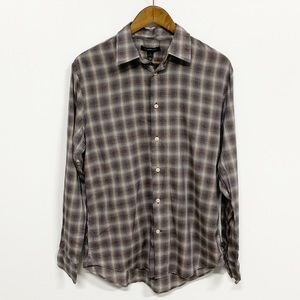 John Varvatos | Plaid Checkered Button Down Shirt